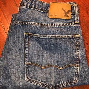 American eagle men's jeans size 34/36 GUC